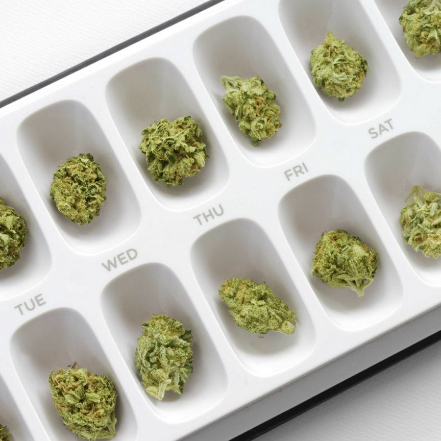 weed for every day of the week like a pillbox